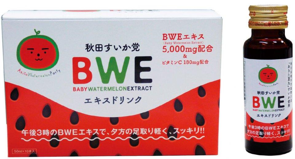 清涼飲料水「秋田すいか党BWEエキス ドリンク」は在庫切れで、予約販売で対応するほど売れ行きが好調だ