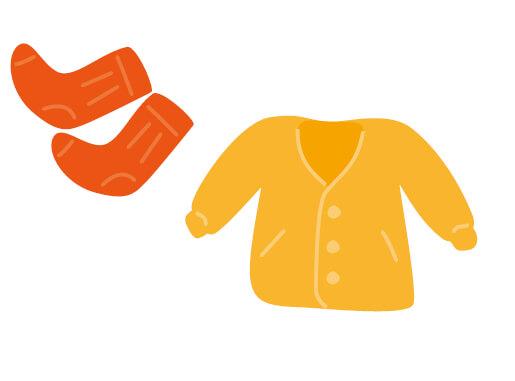 ・上着やソックスなどで着衣の温度調節をこまめに ・冷たい食べ物や飲み物をとり過ぎない