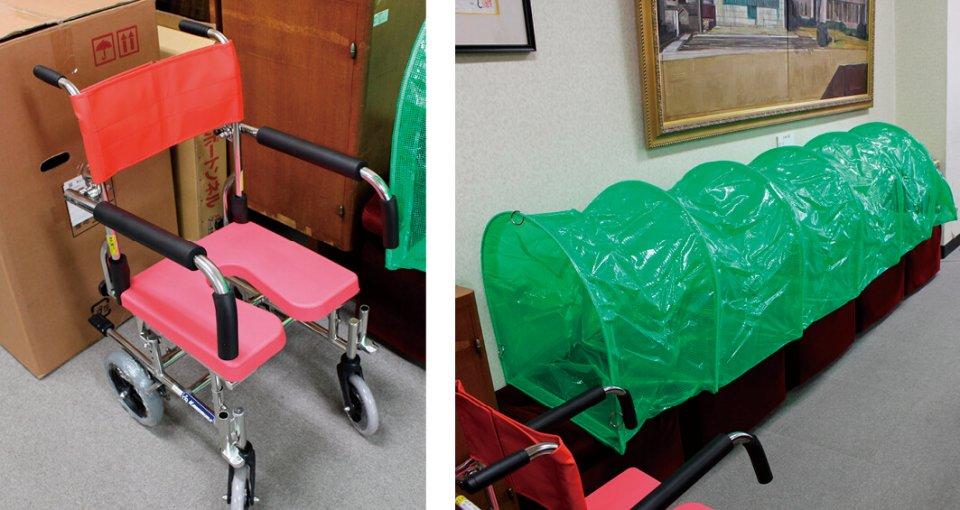 「シャワー用車椅子」と「レインボーアーチトンネル」