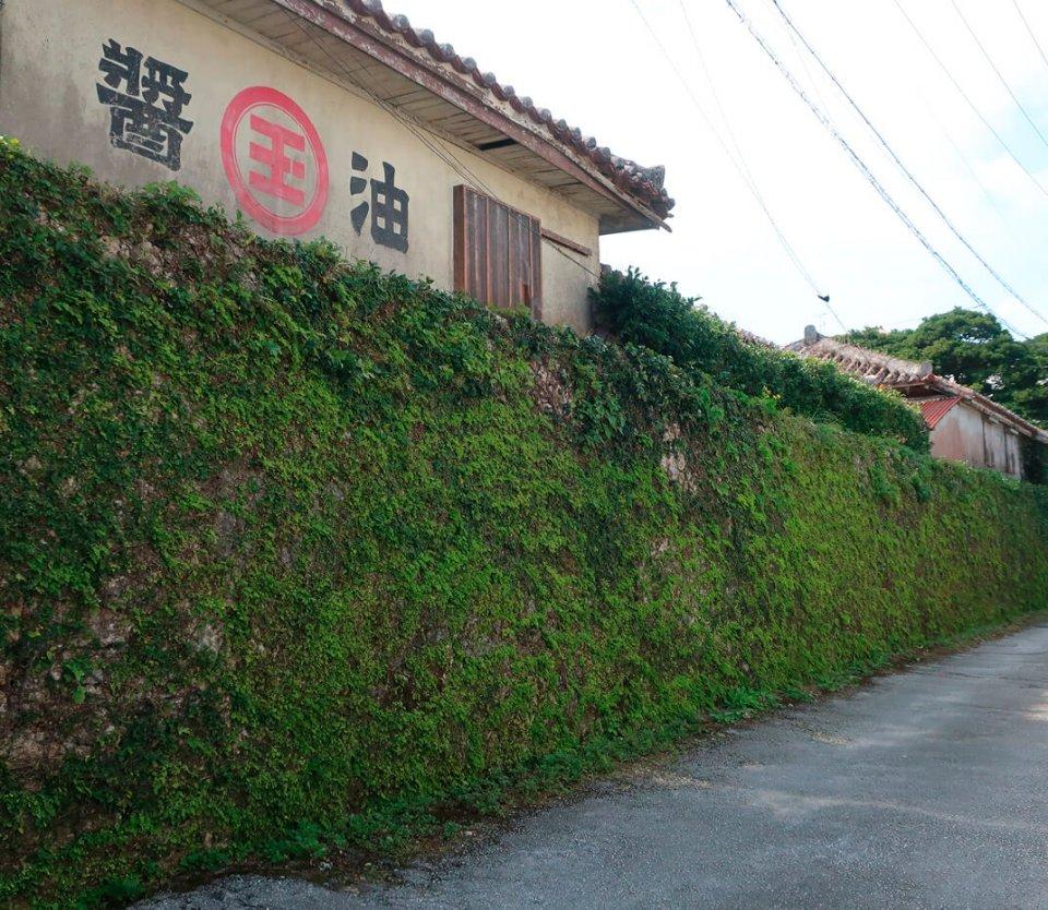 琉球王朝時代に築造された石垣