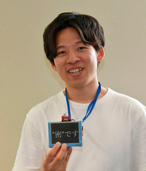 三密回避IDカードを開発した大川原さん