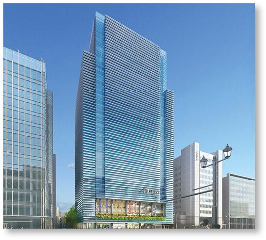 2021年2月竣工となる「新本店ビル(完成イメージ図)」