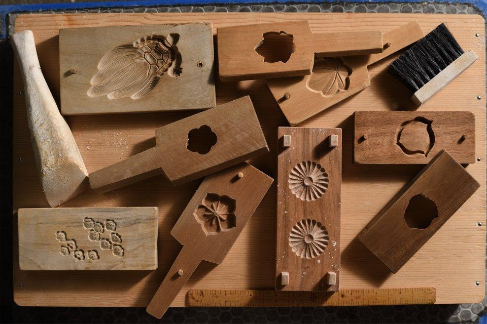 代々使っている和菓子の木型