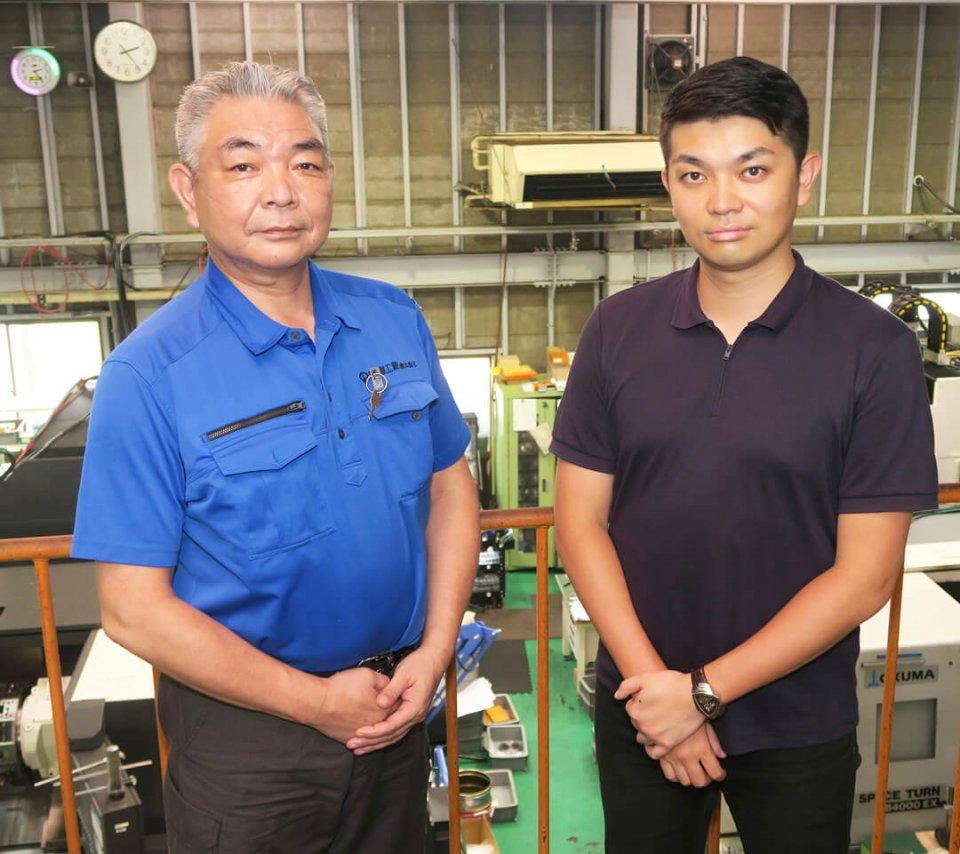 藤恵工業社長の伊藤順啓さんと、専務の啓悟さん。「産学連携では、柏商工会議所さんから大学をご紹介いただきました」(伊藤専務)