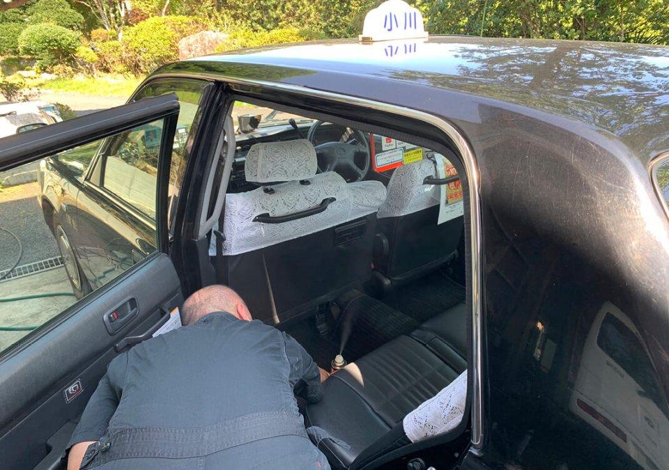 車内は専門業者によって抗菌・抗ウイルス処理が施されている