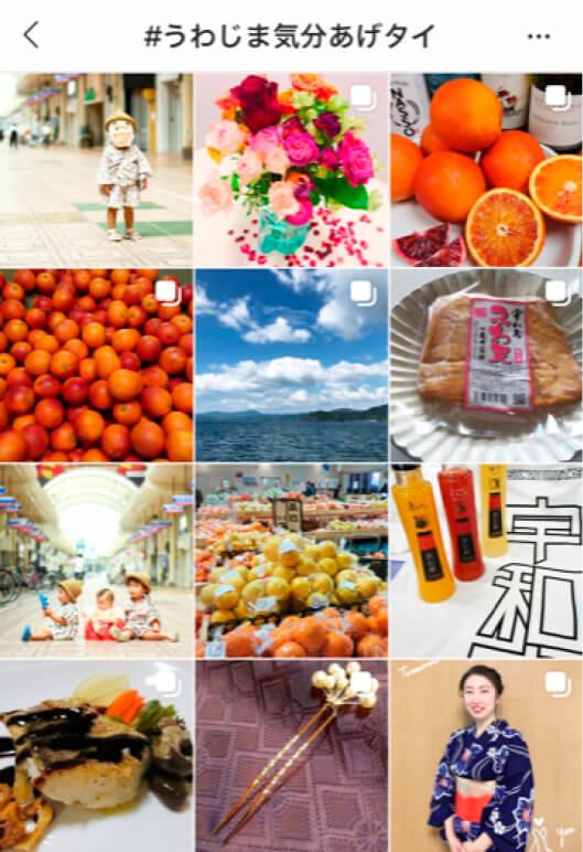 宇和島の魅力を伝える写真や動画が多数投稿された 「#うわじま気分あげタイ」