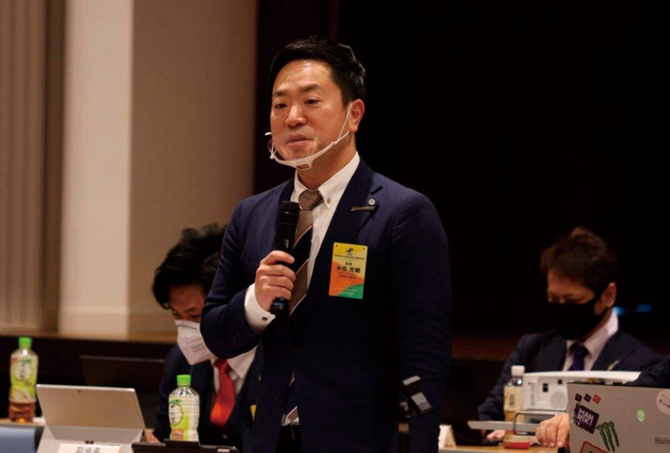 高岡で行われた第291回役員会での日本YEG米良会長
