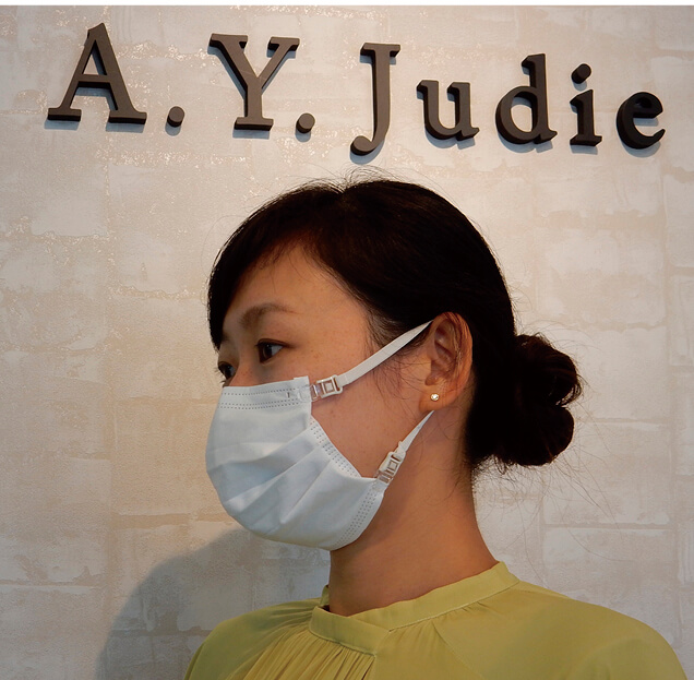 市販の不織布マスクに取り付けも可能