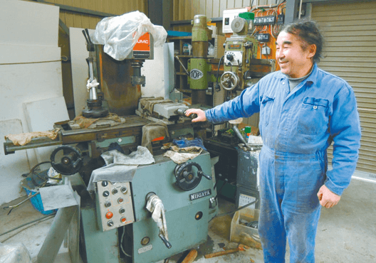 全国からの提供機械で事業を再開