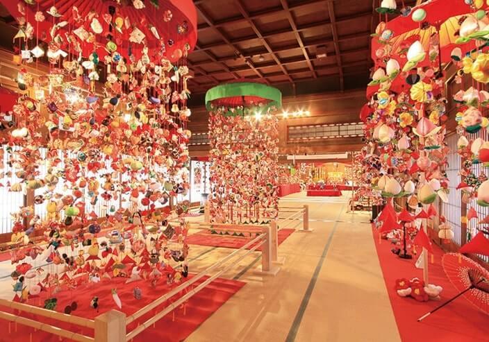 2月下旬から行われる傘福の特別展示