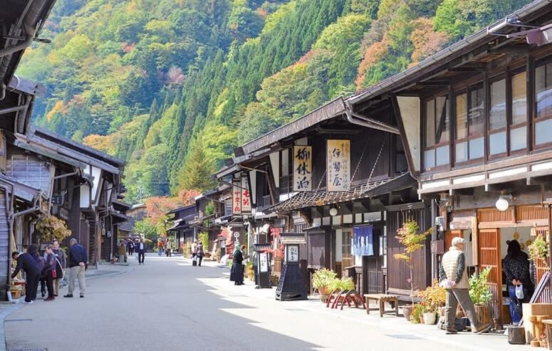 ノスタルジックなまち並み奈良井宿