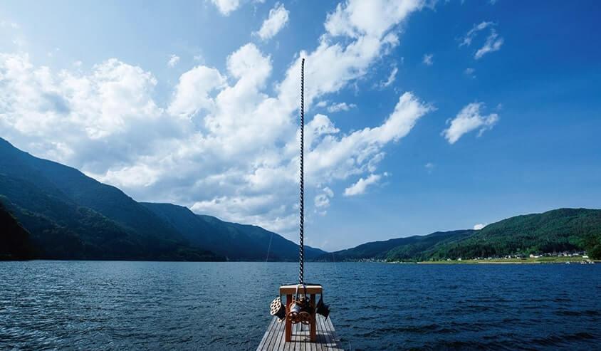 木崎湖と北アルプス国際芸術祭