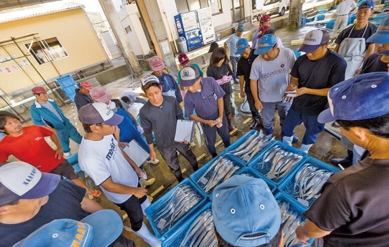 新鮮な魚介類を届ける渥美魚12市場