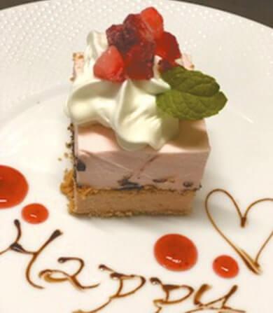 守山産イチゴのダブルチーズケーキ