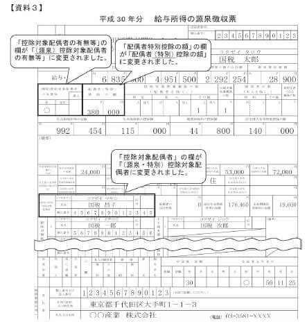【資料3】給与所得の源泉徴収票