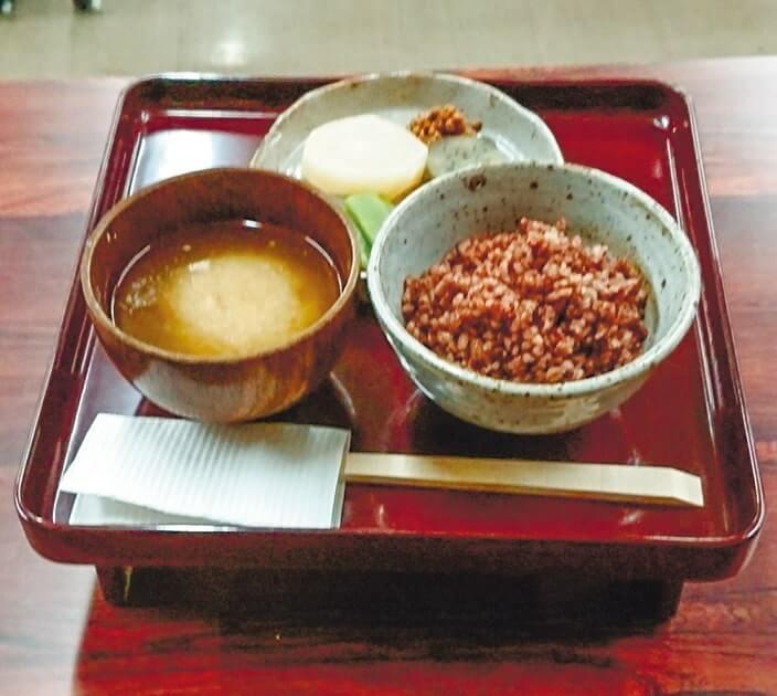 岡藩の農民が食べていたとされる献立を再現