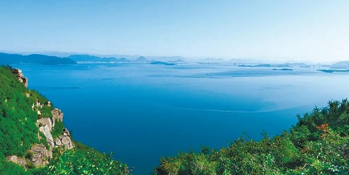 王子が丘」から見た瀬戸内海