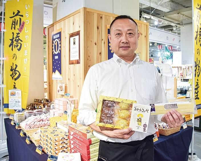 「スイートコッペ」を紹介する丸大オヲツヤ商店代表取締役の稲村景さん