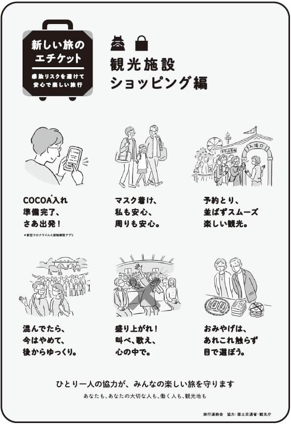新しい旅のエチケット「観光施設・ショッピング編」