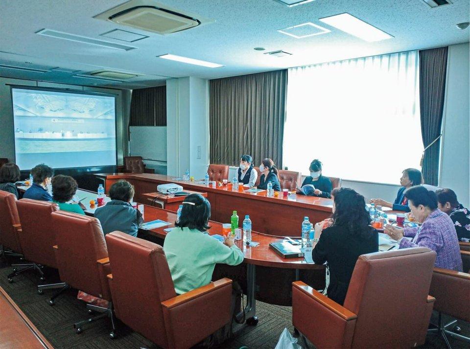 総会にリモート参加した徳島商工会議所女性会