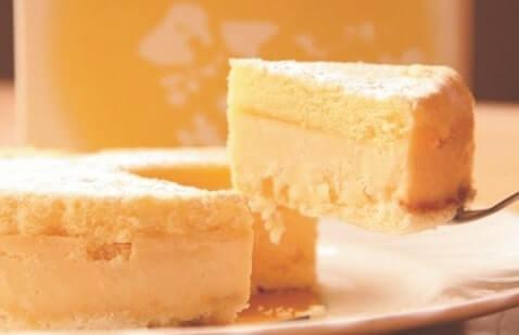 熊野の特産「新姫」のチーズケーキ