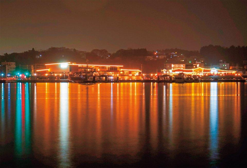 内湾の夜景 (出典)グッドデザイン賞ホームページ