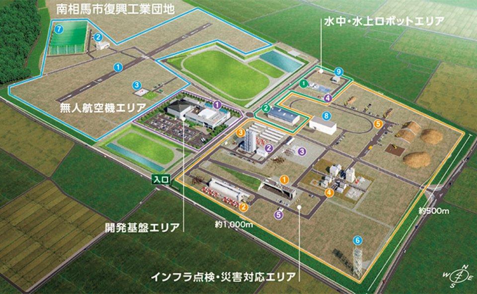 福島ロボットテストフィールド(RTF)敷地概要 (出典)福島ロボットテストフィールド (RTF)