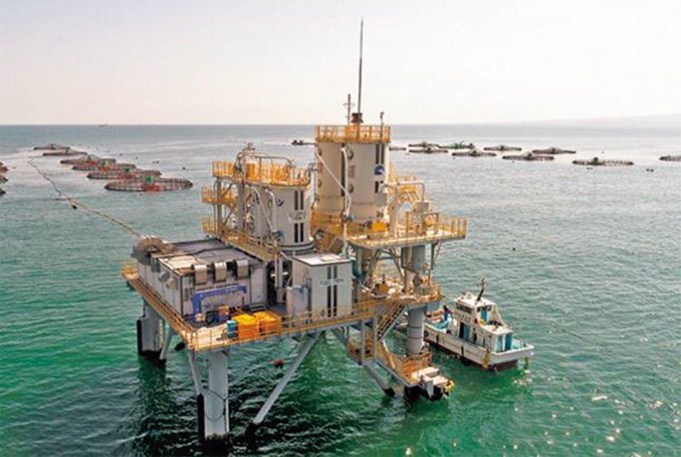 大規模沖合養殖(出所:日鉄エンジニアリング)